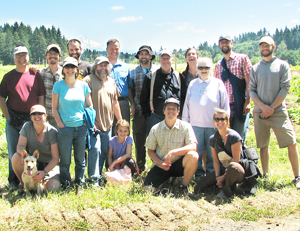 Some of the EMSWCD Staff and Board, and some family and friends at Headwaters Farm