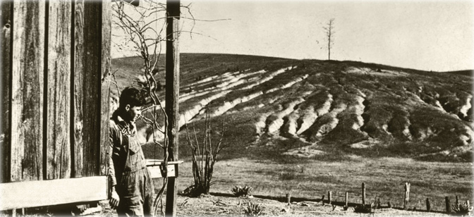 eroded farmland during the Dust Bowl