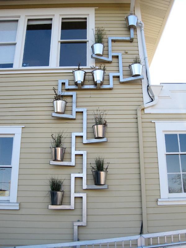 Downspout planter