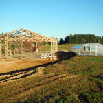 framing the barn at Headwaters