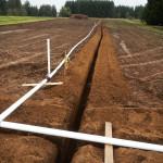 setting up irrigation