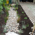 rain garden and permeable driveway
