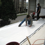 Cutting the waterproof membrane