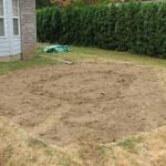 sod removed from rain garden