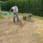 digging out a rain garden