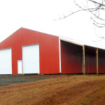 the new barn at Headwaters Farm