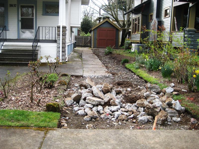 depaving a yard