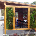 living wall bike shed
