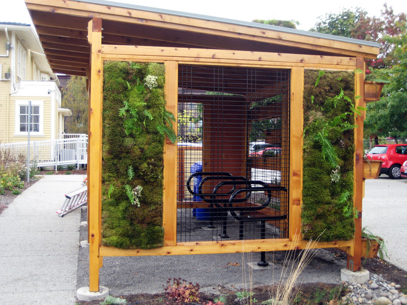 living wall bike shed