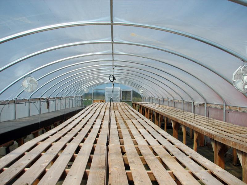 Propagation greenhouse at Headwaters farm