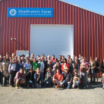 NIFT Tour group outside the Headwaters Farm barn