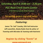 See the full size flier for Soil School 2015