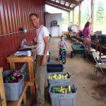 Rick of Abundant Fields Farm at the Headwaters wash station