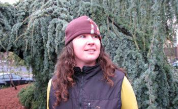 Kathy Shearin in the EMSWCD 'Conservation Corner' yard