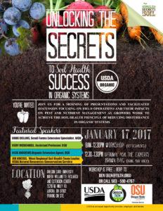 Unlocking the Secrets to Soil Health Success in Organic Systems workshop in Aurora, Oregon