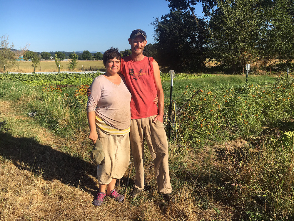 Headwaters Incubator Program's first graduates, Pete and Claire, enjoying the first season on their new plot of land in Canby, Oregon