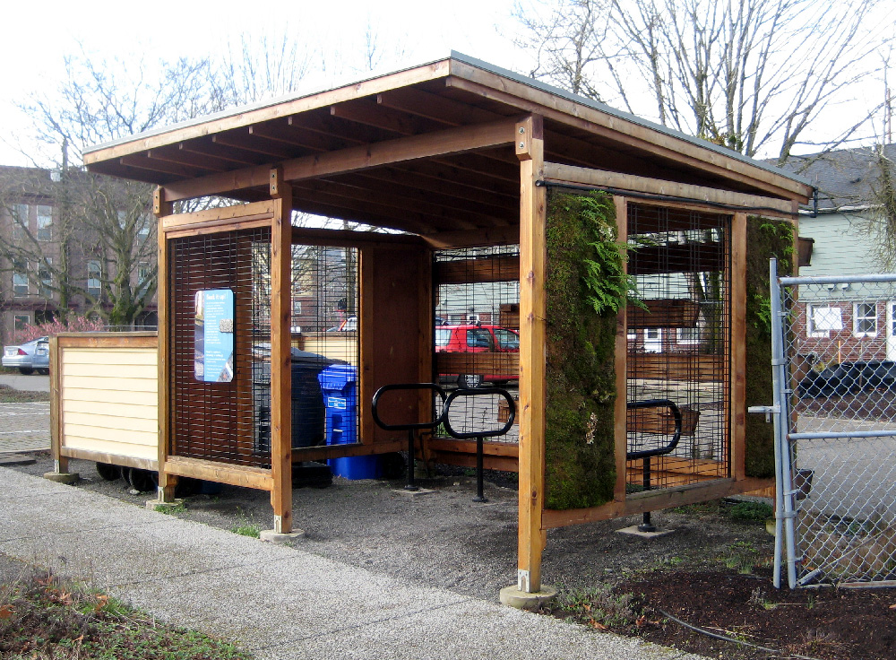 Visiting us by bike? We've got a covered bike shed where you can park and lock your bicycle!