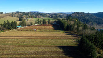 Aerial of Gordon Creek farm
