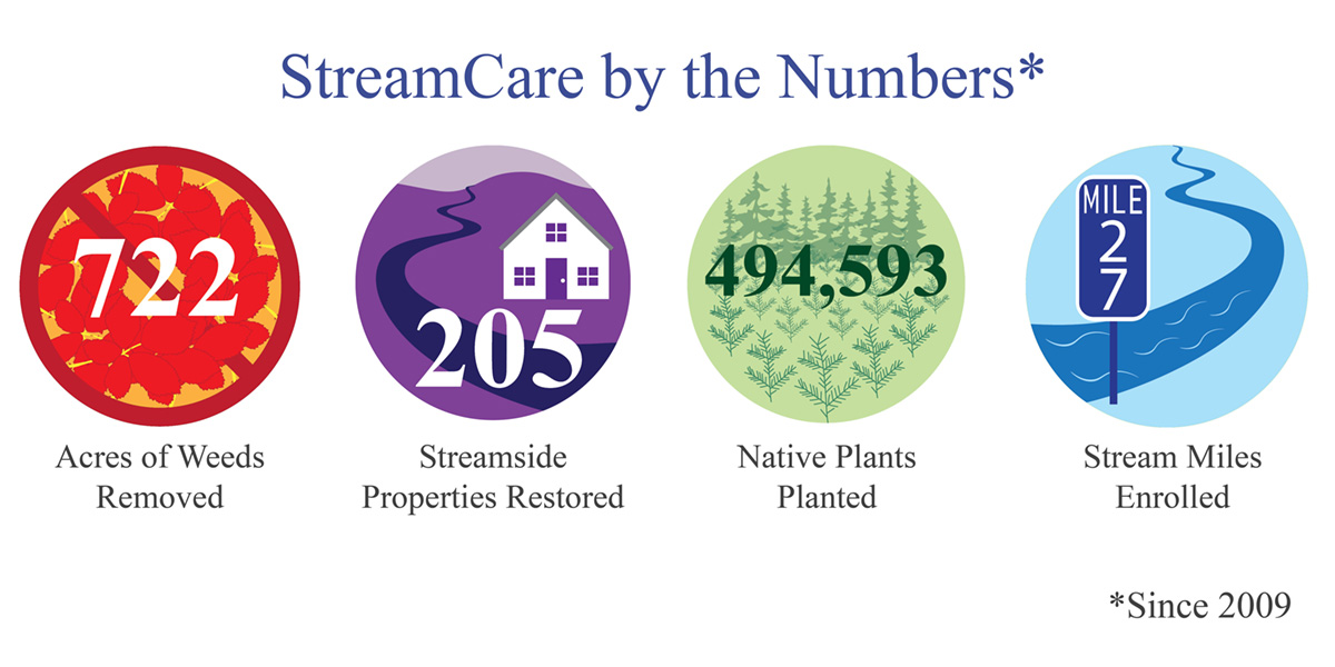 Four significant StreamCare metrics since 2009
